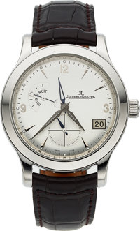 Jaeger-LeCoultre, Master Control HomeTime Big Date, Stainless Steel, Ref. 147.8.05.S, Circa 2005