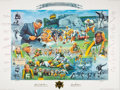 Autographs:Others, 1993 Green Bay Packers 75th Anniversary Signed Poster - Immaculate Condition! ...