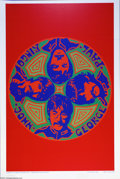 Music Memorabilia:Posters, Beatles Limited Edition Black Light Poster 342/2000 (Reliance Art,1990)....