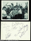 Music Memorabilia:Photos, The Beatles: The Original Photo of John Lennon with TheQuarrymen!...