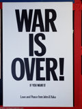 "Music Memorabilia:Posters, John Lennon and Yoko Ono - ""War Is Over"" Poster (1971)...."