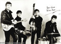 Music Memorabilia:Autographs and Signed Items, Ringo Starr and Pete Best Autographs....