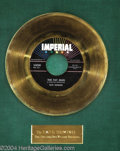 "Music Memorabilia:Awards, Fats Domino ""The Fat Man"" Imperial Gold Record Award (1958)...."