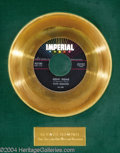 "Music Memorabilia:Awards, Fats Domino ""Goin' Home"" Imperial Gold Record Award (1958)...."