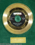 "Music Memorabilia:Awards, Fats Domino ""Going to the River"" Imperial Gold Record Award(1958)...."