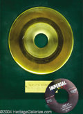 "Music Memorabilia:Awards, Fats Domino ""Love Me"" Imperial Gold Record Award (1958)...."