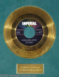 "Music Memorabilia:Awards, Fats Domino ""Whole Lotta Loving"" Imperial Gold Record Award(1958)...."