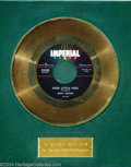"Music Memorabilia:Awards, Ricky Nelson ""Poor Little Fool"" Imperial Gold Record Award(1958)...."