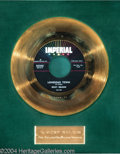 """Music Memorabilia:Awards, Ricky Nelson """"Lonesome Town"""" Imperial Gold Record Award (1958)...."""