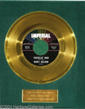 "Music Memorabilia:Awards, Ricky Nelson ""Travelin' Man"" Gold Record Award (1961)...."
