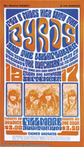 Music Memorabilia:Posters, The Byrds - Concert Poster (West Coast Lithograph Company,1966)....