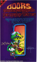 Music Memorabilia:Posters, The Doors - Concert Poster, Signed (Tea Lautrec Litho, 1967)....