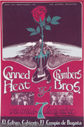 Music Memorabilia:Posters, Canned Heat and the Chambers Brothers - Concert Poster (RainbowGraphics, 1969)....