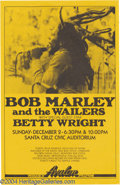Music Memorabilia:Posters, Bob Marley Poster (Avalon Attractions, 1979)....