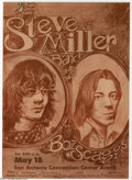 Music Memorabilia:Posters, Steve Miller Band and Boz Scaggs - Concert Poster (Stone CityAttractions, 1974)....