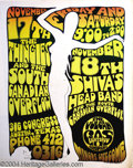 "Music Memorabilia:Posters, Gilbert Shelton - ""White Lady"" Vulcan Gas Works Concert Poster(1967)...."