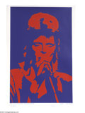 Music Memorabilia:Posters, David Bowie Limited Edition Black Light Poster 853/2000 (RelianceArt, 1990)....