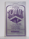 """Music Memorabilia:Posters, """"Tommy"""" Stage Production Poster (1970s)...."""