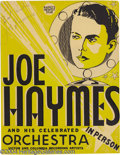 Music Memorabilia:Posters, Joe Haymes, Tal Henry, and Larry Clinton Signed Window Cards.... (3items)