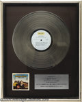 Music Memorabilia:Awards, BoxCar Willie Platinum Record....