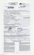 Music Memorabilia:Autographs and Signed Items, Merle Haggard - Signed Contract (2001)....