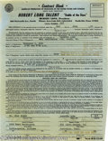 Music Memorabilia:Ephemera, Loretta Lynn Signed Contract (1964)....