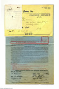 Music Memorabilia:Ephemera, George Jones Signed Contract with Extras....