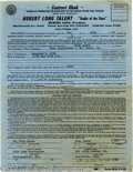 Music Memorabilia:Ephemera, Buck Owens Signed Contract....