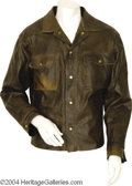 Music Memorabilia:Costumes, Glen Campbell Leather Jacket....