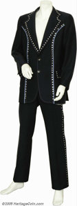 Music Memorabilia:Costumes, Daddy Kendall Two-Piece Navy Suit and Hat....