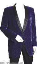 Music Memorabilia:Costumes, Johnny Horton Blue Velvet Tuxedo ...