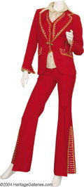 Music Memorabilia:Costumes, Jeannie Kendall Red Outfit....