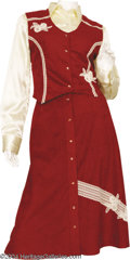 Music Memorabilia:Costumes, Patsy Cline Two-Piece Outfit....
