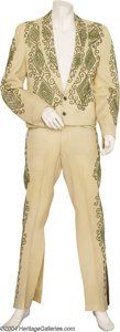 Music Memorabilia:Costumes, Buck Owens Two-Piece Turk Designed Outfit and Record....