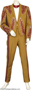 Music Memorabilia:Costumes, Bill Anderson Two-Piece Suit Designed by Nudie....