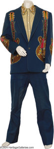 Music Memorabilia:Costumes, Merle Travis Two-Piece Suit Designed by Nudie, Shirt, and Boots....