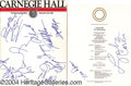 Music Memorabilia:Autographs and Signed Items, Yard Birds and Carnegie Hall Autographs....