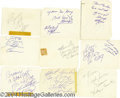 Music Memorabilia:Autographs and Signed Items, Autographs by Chuck Berry, Little Richard, Bill Haley and many more....