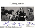 Music Memorabilia:Autographs and Signed Items, Country Joe and the Fish Autographs, Signed Photo and Set List(2004)....