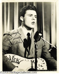Music Memorabilia:Autographs and Signed Items, Rick Nelson Signed and Inscribed 8x10 Black and WhitePhotograph....