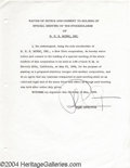 Music Memorabilia:Autographs and Signed Items, Phil Spector - Signed Document (1966)....