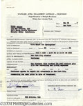 Music Memorabilia:Autographs and Signed Items, Ricky Nelson - Signed Agreement (1957)....
