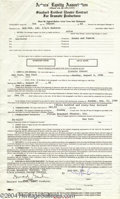 Music Memorabilia:Autographs and Signed Items, Madonna Signed Actors' Equity Theater Contract....