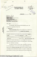 Music Memorabilia:Autographs and Signed Items, Phil Spector - Signed Agreement (1965)....