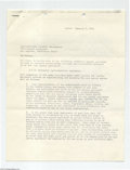 Music Memorabilia:Autographs and Signed Items, Al Jardine of The Beach Boys - Signed Agreement (1975)....