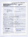 Music Memorabilia:Autographs and Signed Items, Cyndi Lauper Signed Contract....