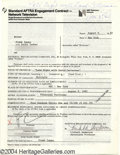 Music Memorabilia:Autographs and Signed Items, Frank Zappa - Signed Contract (1982)....