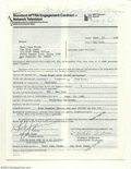 Music Memorabilia:Autographs and Signed Items, Rick James - Signed Contract (1982)....