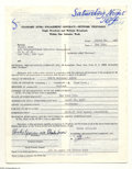 Music Memorabilia:Autographs and Signed Items, Phoebe Snow - Signed Contract (1976)....