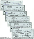 Music Memorabilia:Autographs and Signed Items, Cher - Group of Eleven Signed Checks (1999)....